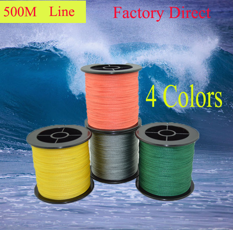500M Tri-Poseidon Brand Super Strong Japan Multifilament PE 4 strands Braided Wire Ocean Fishing Line(China (Mainland))