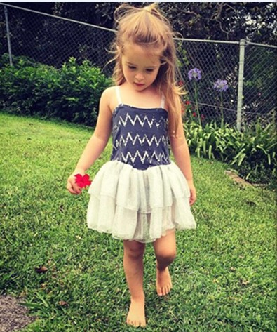 Boho Summer Chevron Cotton Strap Dress Posh Zig Zag Chevron Tutu Dress Sparkle Party Dance Mesh Dress Little Girl Holiday Dress(China (Mainland))
