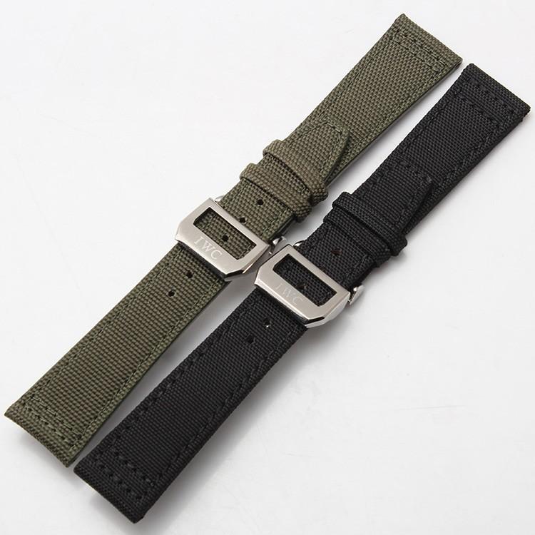 Нержавеющая сталь Пряжка Развертывания Застежка 20 мм 21 мм 22 мм Ремешок Для Часов Зеленый Черный Нейлоновый ремешок для Спорта Запястье мужские часы новый