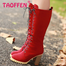 Women High Heel Over Knee Boots Ladies Riding Fashion Long Snow Boot Warm Winter Botas Heels Footwear Shoes P2413 Size 34-40(China (Mainland))
