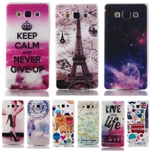 Colorful Crystal Phone Case For Samsung Galaxy A5 A5000 A5009 5.0″ Printing Transparent Gel Soft Plastic Protective Cover