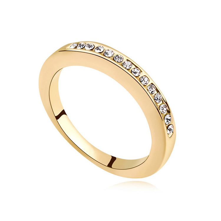 Best quality gold wedding rings made with swarovski for Best quality wedding rings