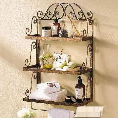 ECDAILY  Excellent Nocquet iron wall rack shelving rack towel rack bathroom towel rack three shelves  FREE SHIPPING