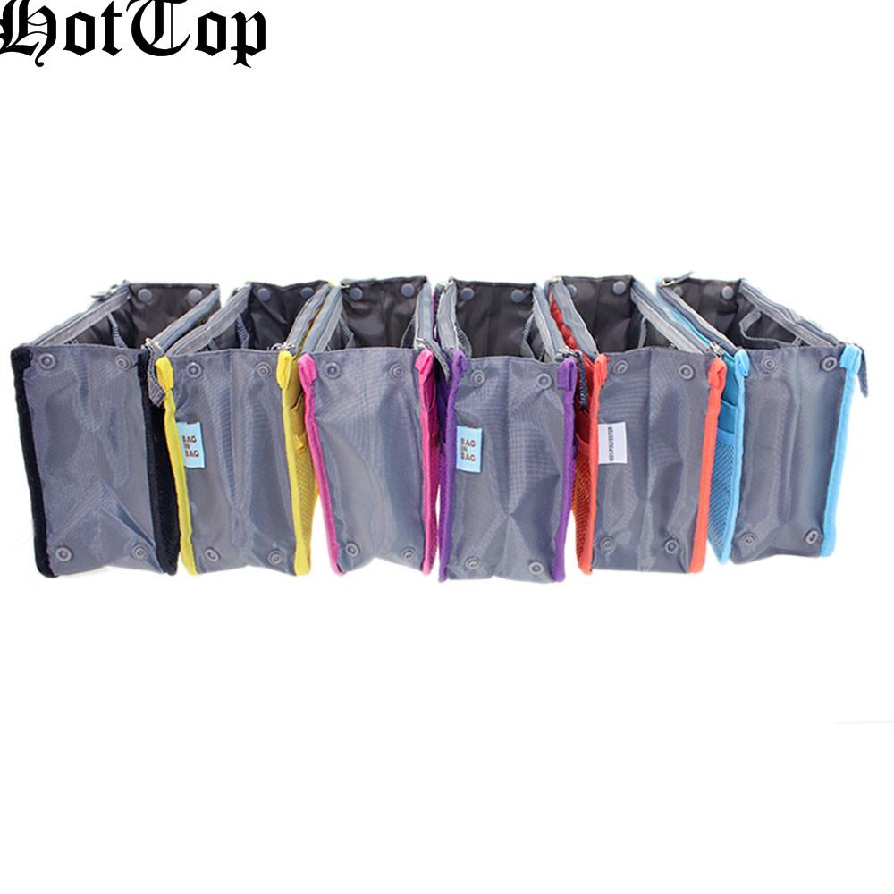 HotTop Makeup Dual Zipper Portable Multifunction Thicken Storage Bag Case Holder Organizer Bag Storage Travel Multicolour(China (Mainland))