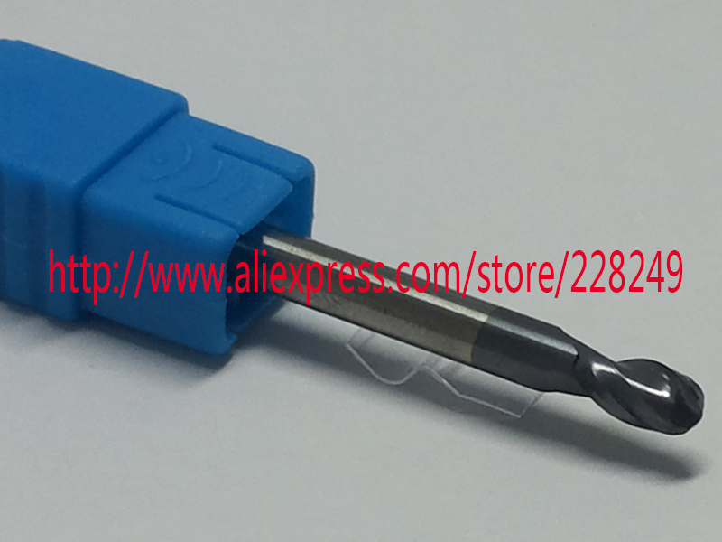 1pc R1.5*6*D3*50-HRC55 2 Flutes Tungsten solid carbide Coated Ball Nose End Mills CNC milling cutters(China (Mainland))