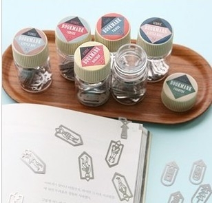 12 Boxes New Iconic Bookmark Set Mini Metal Bookmark Figurines Miniatures Bottle packing
