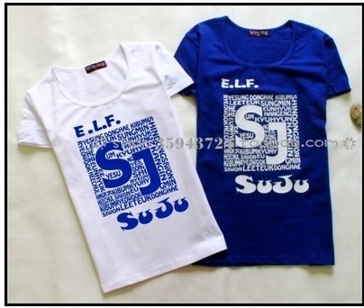 Hot selling 2016 super junior star team concert clothes 2 clothes for tee shirt homme de marque short-sleeved T-shirt(China (Mainland))