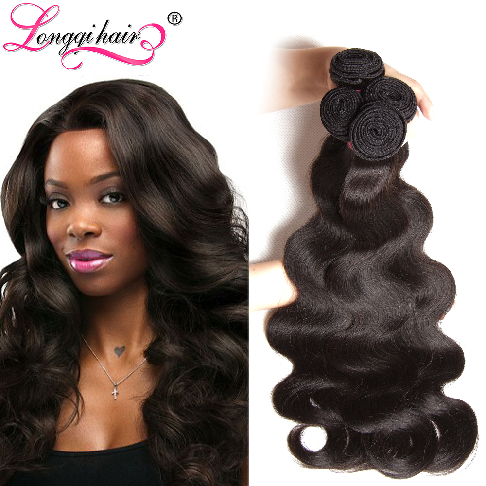 Lot 7A Brazilian Virgin Hair Body Wave Unprocessed Weave Bundles Human Weft Longqihair - Xuchang Longqi Beauty Products Co., Ltd. store