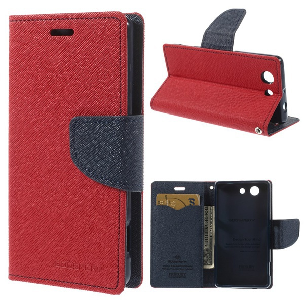 Sony Xperia Z3 Compact case MERCURY Fancy Diary Leather Case D5803 M55w stand - Iacebox Co.,Ltd (HK store)