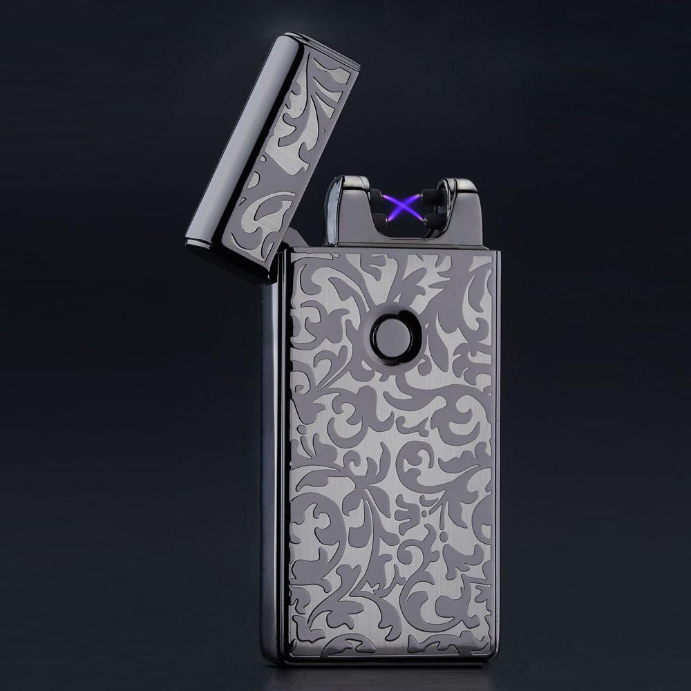 ถูก USBเบาwindproofเบาบางบุหรี่อิเล็กทรอนิกส์ชาร์จชีพจรโลหะเบาไฟแช็ขายส่ง2015