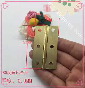 Gold 2 inch wooden wardrobe bookcase door hinge antique furniture small hinge box 57MM*31MM 180 degree(China (Mainland))