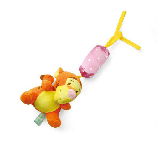 Newborn Baby Bed hanging/ bed bell Rattles infant Tigger Early Development Educational Plush Toy Retail Baby toys 0-12 months(China (Mainland))