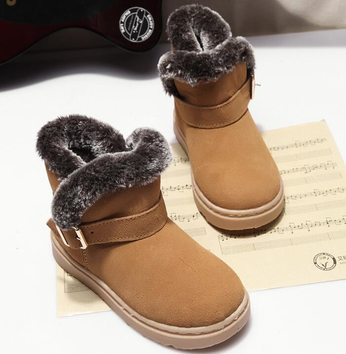 2015 new arrival children boots boys girls shoes comfortable kids leather boots girls winter boots warm cotton snow boots boys<br><br>Aliexpress