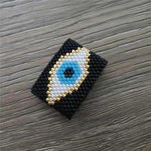 Go2boho zły pierścionek z oczkiem kobiety 2020 MIYUKI pierścionki mężczyźni biżuteria lato Anillos turecki zły pierścionek z oczkiem Anillos Mujer Handmade prezent jej(China)