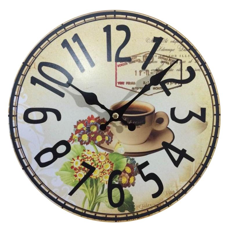 Dinning Room Cheap Wall Clocks Electronic Antiqued Quartz MDF Wooden Clock 10'inch Home Decoration Big Wall Clock(China (Mainland))