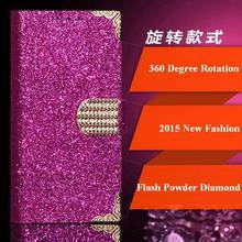 Jiayu S2 Case, Fashion Universal 360 Degree Rotation Flash Powder Diamond Phone Cases for Jiayu S2