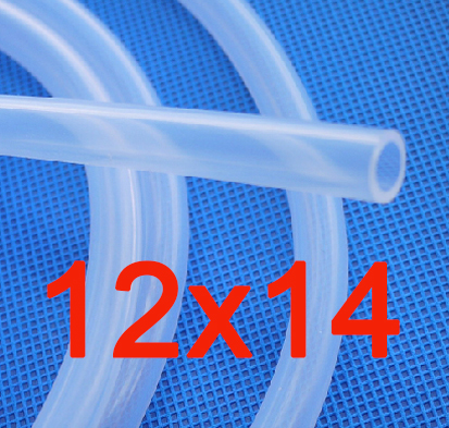 12x14mm Food Grade Medical Use FDA Silicone Rubber Flexible Tube / Hose / Pipe For Strip