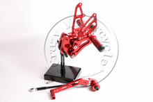Rearsets CNC Adjustable Rear set Foot pegs SUZUKI K8 GSXR600 GSXR 600 GSX600R 2006-2010 RED 2007 2008 2009 - Professional motorcycle parts store