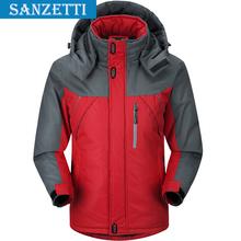 Free shipping Mandarin Polyester parkaThick Casual Waterproof Windproof Cotton-Padded Solid Zipper mens winter coats Sanzetti
