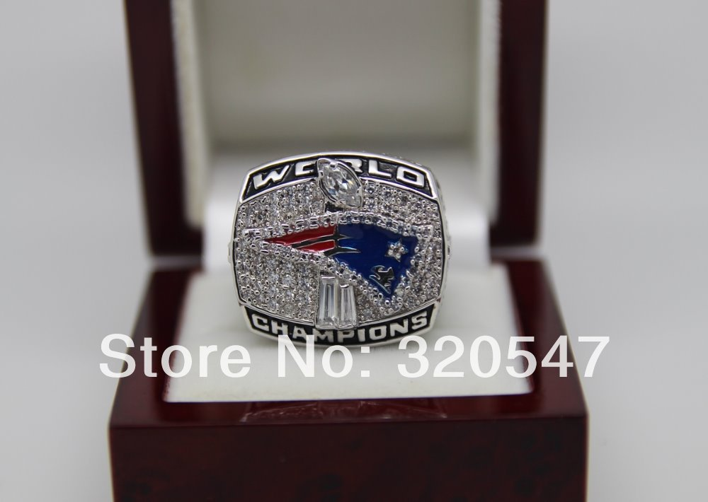 2001 New England Patriots NFL Super Bowl World Championship Copper Ring 8-14Size For BRADY Fans Gift Collection(China (Mainland))