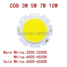3W 5W 7W 10W 12W COB LED beads  Pure white surface light source 300mA  Chip Free Shipping