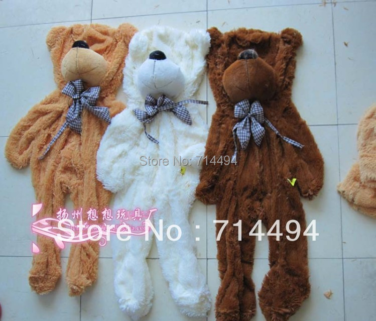 140cm three colors big teddy bear skin coat stuffed toys plush toy baby toy birthday gifts Christmas gifts(China (Mainland))