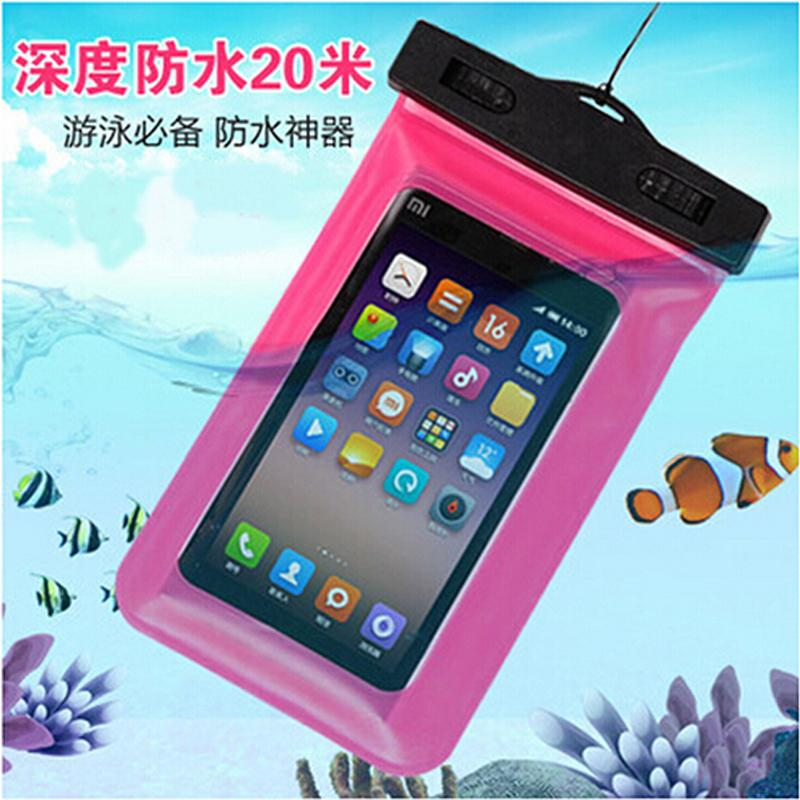 PVC high quality waterproof dive bag, cell phone pocket Underwater Case for iPhone4S / 5S Samsung mobile phone waterproof case(China (Mainland))