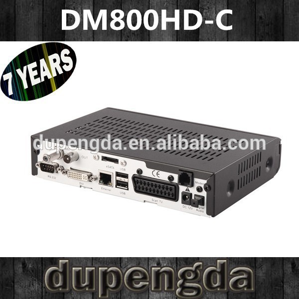 Factory Price ! Direct Selling Enigma 2 dvb C card sharing NEW dm800HD C cable receiver SIM2.10(China (Mainland))