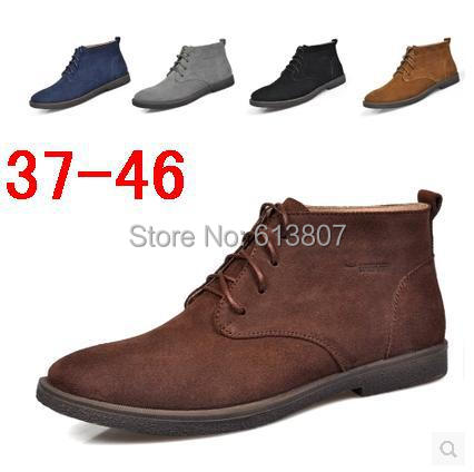 Фотография Free shipping in the winter the plush leather high help cotton men