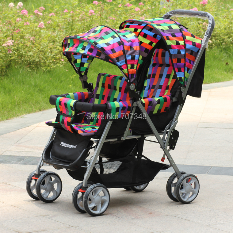 Lowest Price Double Twins Baby Stroller,Double Baby Carriage,Two-point Safety Belt,Gross Weight: 11.5kg,Weight Capacity: 40k<br><br>Aliexpress