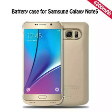 Newest Power Bank for Samsung Galaxy Note5 4200mAh External Rechargeable Backup Battery Power Case
