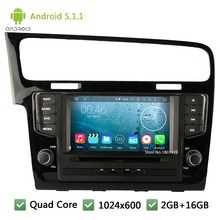 Quad Core Android 5.1.1 7″ 1024*600 WIFI Car DVD Player Radio Audio Stereo Screen PC For Volkswagen VW Golf 7 MK7 VII 2012-2015