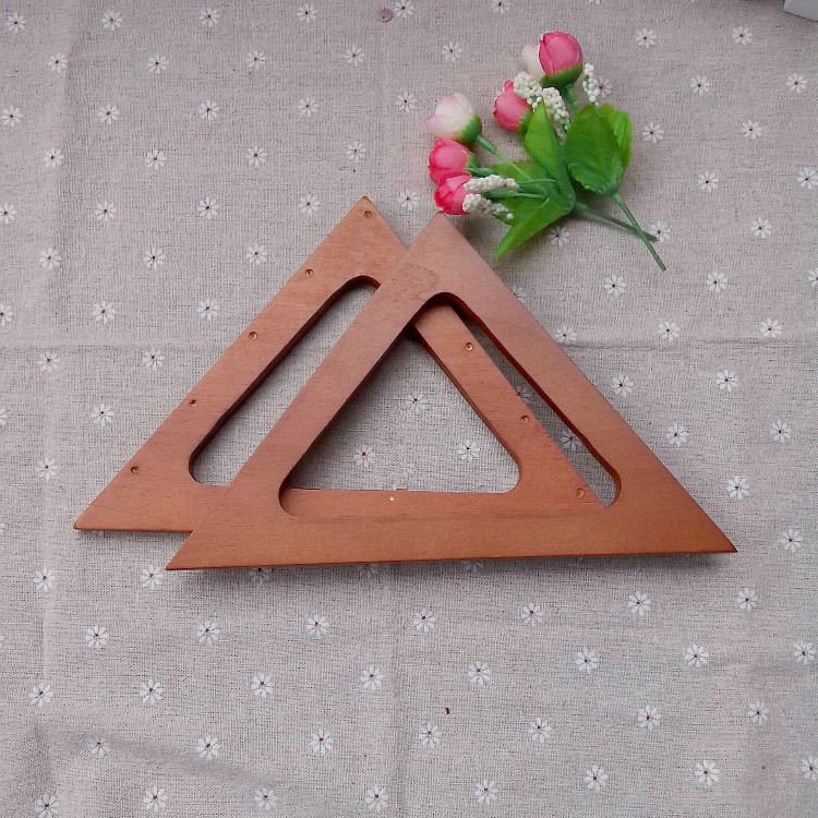 China 23.5*19cm light brown wooden purse handles who need bag making accessories China factory supplier Wooden Bag Handle(China (Mainland))