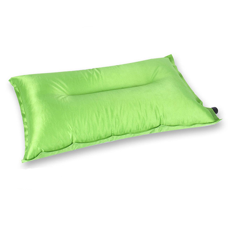 Automatic inflation pillow polyester fabrics portable pillows inflatable suit nap 4 color supply(China (Mainland))