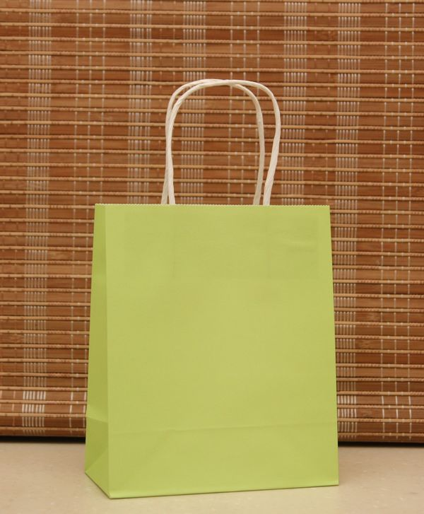 Free Shipping Light Green Gift Paper Bag, Fashionable Gift Jewelry Paper Bag For Wedding/Party 18x15x8cm Wholesale 90pcs/lot(China (Mainland))