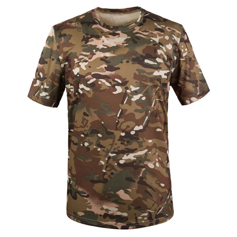 Tactical Military T shirt Outdoor Quick Dry Camouflage Breathable T-shirt Army Sport Camo Brand Tee Tops Camisetas Hombre Tshirt(China (Mainland))