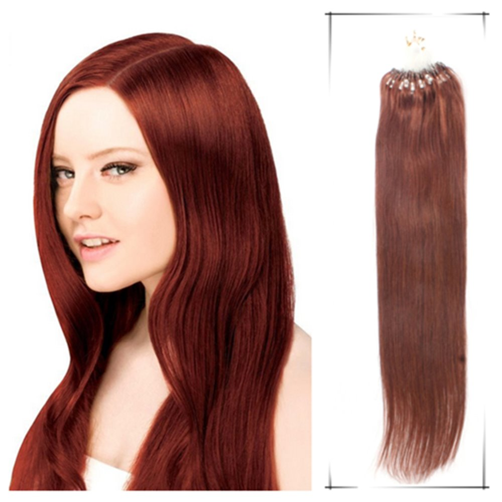 True Glory Hair 22Inch/55cmHuman Micro link Hair Extensions 1g/PC Premium Too Hair Extensiones Del Pelo Humano+100pcs Free Beads(China (Mainland))
