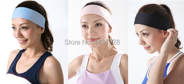 Candy-colored sport yoga head protection milk silk wide headband hair hoop headband unisex (5cm) A223(China (Mainland))