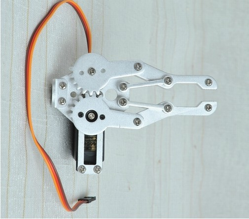 Aluminium Robot Clamp Gripper Mount kit With One MG995 Servo for Robot Arduino