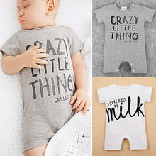 0-24M Newborn Baby Summer Clothes Short Sleeve Infant Boys Girls Romper Outfit Clothing