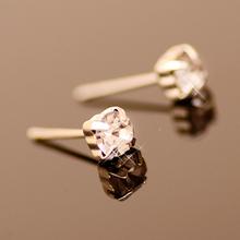 David Beckham Wear Style Fashion Shining Rhinestone Stud Earrings for Men Jewelry(China (Mainland))