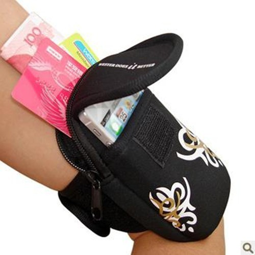 New1 Cycling Sports Running Wrist Pouch cell Mobile Phone Arm Bag Wallet Cover Case For BlackBerry Multi Phone Buttons Model(China (Mainland))