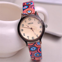 relogios femininos de marca Kezzi  Fashion  Women Wristwatch  Leather strap Analog Display Quartz Casual Watch k1056