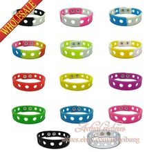 14Pcs Fashion Silicone Wristbands Bracelets Bands for shoe charms,Mixed Colors ,Size:18/21cm,Party Supplies Gift, Free Shipping(China (Mainland))