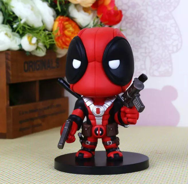 X- Men's Deadpool Figurine Action Figures Model American Toys Movie Anime Cartoon PVC New Cute Figure Set Figurine Toy(China (Mainland))