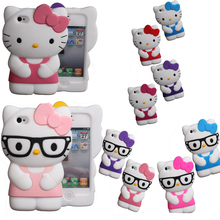 3D Soft Silicon hello kitty Case iPhone 4 4s 5 5s SE 6 6s plus S2 S3 NOTE2 touch 4/5 cute Bowknot Hello rubber cover - BODA Trading Company store