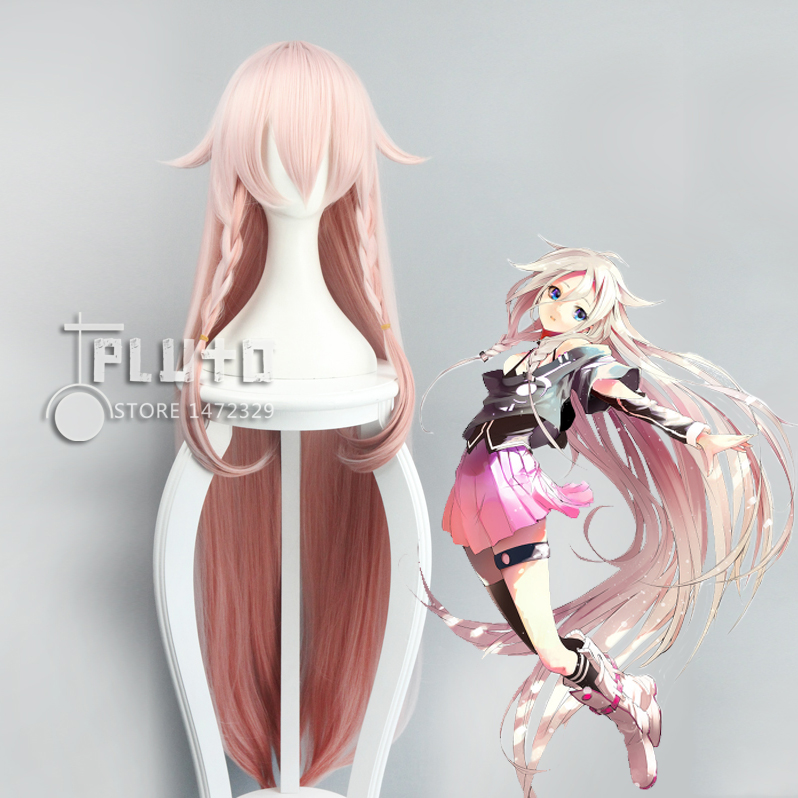 VOCALOID3 IA VOCALOID Cos Wig Peach Pink 120cm Long Straight hair Anime Cosplay Wigs Pluto P377A