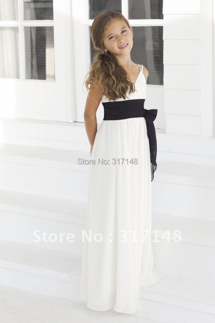 2015 new arrival db093 spaghetti strap floor length for White wedding dress with black sash