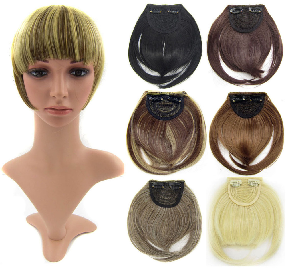 front synthetic hair bang extension clip in hair bang synthetic hair bang hair fringe frinde 32 colors available,1pc(China (Mainland))