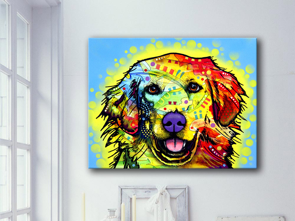 2016 Direct Selling Special Offer Paintings Fallout Painting Golden Retriever Dog Home Decor Cuadros Canvas Wall Picture(China (Mainland))